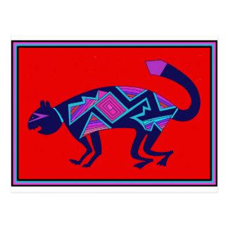 Cartão Postal Gato de Mimbres do sudoeste