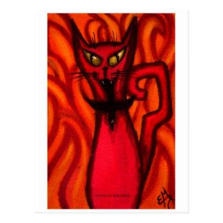 Cartão Postal Gato do mau do diabo