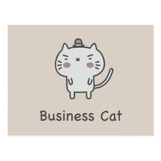 Cartão Postal Gato do negócio