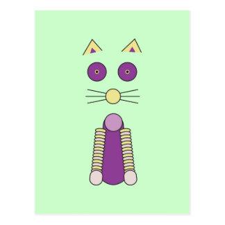Cartão Postal Gato doce