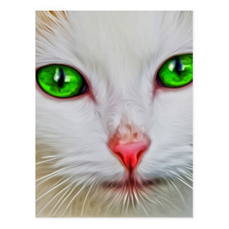 Cartão Postal Gato dos olhos verdes