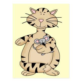 Cartão Postal Gato e rato
