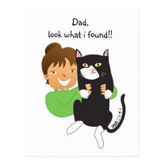 Cartão Postal Gato encontrado