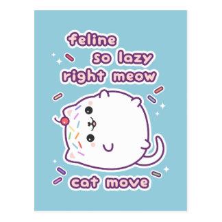 Cartão Postal Gato engraçado bonito
