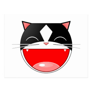 Cartão Postal Gato feliz