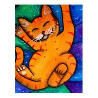 Cartão Postal Gato feliz do gatinho