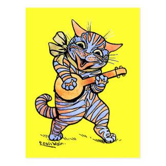 Cartão Postal Gato por Louis Wain