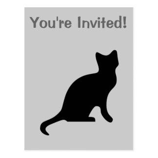 Cartão Postal Gato preto - assustador assustador