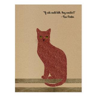 Cartão Postal Gato projetado elegante. Somente para amantes do