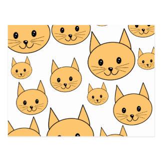 Cartão Postal Gatos bonitos do gengibre