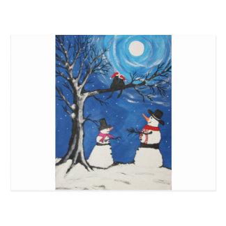 Cartão Postal Gatos do Natal no amor