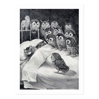 Cartão Postal Gatos pesadelo, Louis Wain