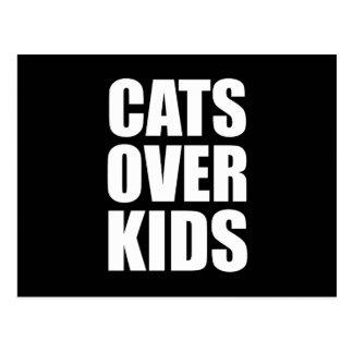 Cartão Postal Gatos sobre citações engraçadas dos miúdos