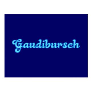 Cartão Postal Gaudibursch Baviera Bavaria bávara bávara