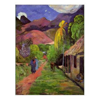 Cartão Postal Gaugin - estrada em Tahiti