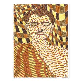 Cartão Postal Gautama Buddha psicadélico