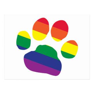 Cartão Postal Gay-Orgulho-Pata-Impressão