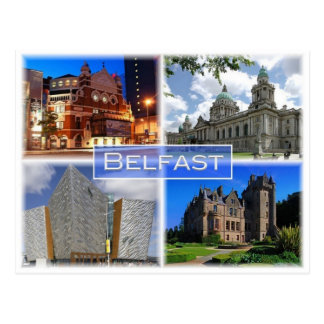 Cartão Postal GB Reino Unido - Irlanda do Norte - Belfast -