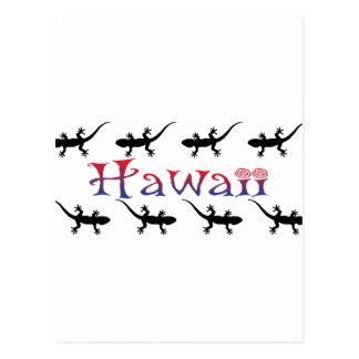 Cartão Postal gecos do hawai