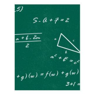 Cartão Postal geek da álgebra do professor de matemática