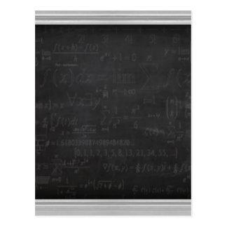 Cartão Postal Geek da matemática