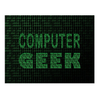 Cartão Postal Geek do computador