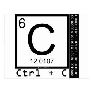 Cartão Postal Geek mim! Cópia de carbono
