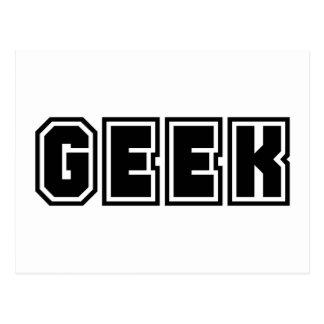 Cartão Postal Geeks Dorky Geeky da indicação das letras de time