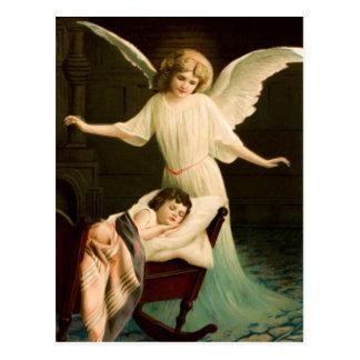 Cartão Postal Gel, de protecção e menino dormente