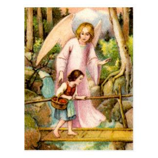Cartão Postal Gel, de protecção e rapariga