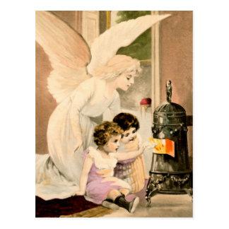 Cartão Postal Gel, de protecção, meninos e fogos,