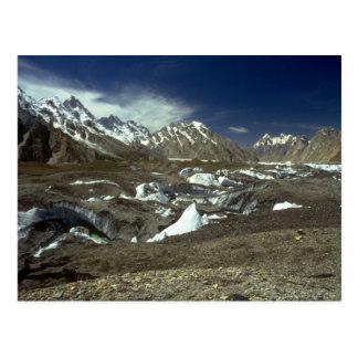 Cartão Postal Geleira de Batura, Karakorums, Paquistão do norte