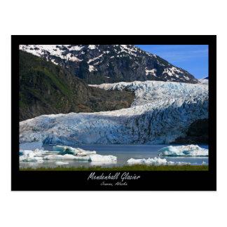 Cartão Postal Geleira de Mendenhall/Juneau Alaska