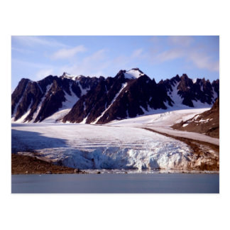 Cartão Postal Geleira em Svalbard, (Spitsbergen)