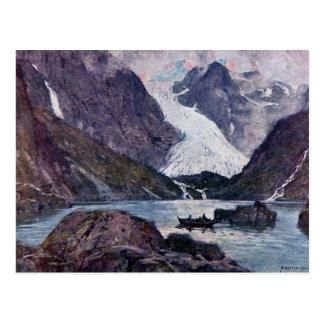 Cartão Postal Geleira norueguesa