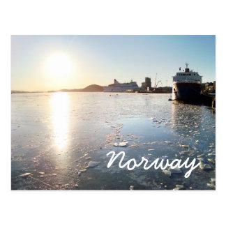 Cartão Postal Gelo de Noruega