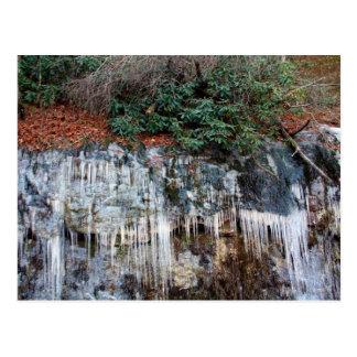 Cartão Postal Gelo nas rochas