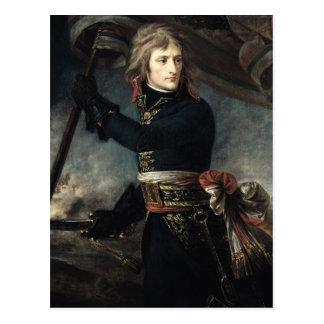 Cartão Postal General Bonaparte na ponte em Arcole