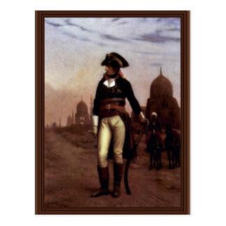 Cartão Postal General Bonaparte o Cairo por Gérôme Jean-Léon