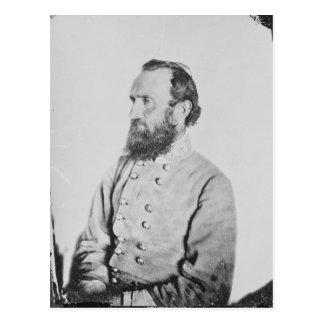 Cartão Postal General confederado Thomas J Stonewall Jackson