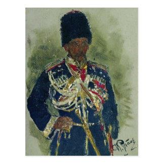 Cartão Postal General de Ilya Repin- sob a forma das guardas