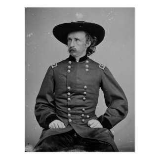 Cartão Postal General George Armstrong Custer por Mathew Brady