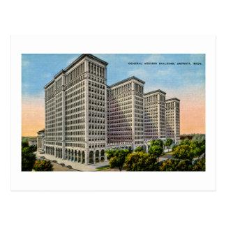 Cartão Postal General Motors que constrói, Detroit, Michigan