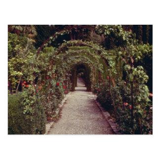 Cartão Postal Generalife branco, o Alhambra, Granada, flo da