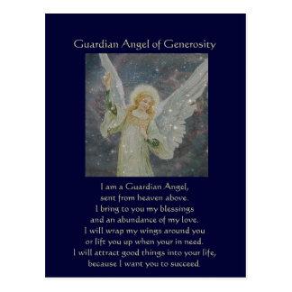 Cartão Postal Generoso - anjo-da-guarda da generosidade
