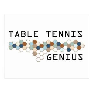 Cartão Postal Gênio do ténis de mesa