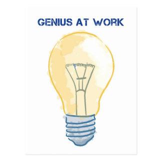 Cartão Postal Gênio no trabalho