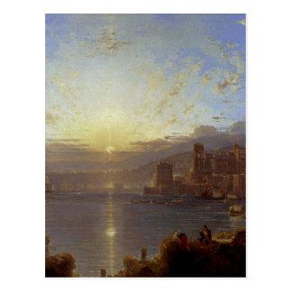 Cartão Postal Genoa por Franz Richard Unterberger