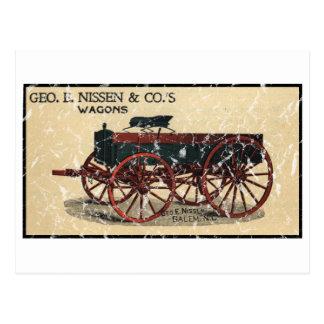 Cartão Postal Geo. E. Nissen Wagons-1823 - afligido