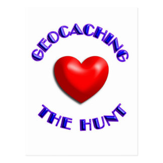 Cartão Postal Geocaching do amor e a caça